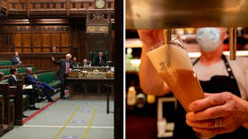'Last order, last order!' Pub-deprived Britons snicker as sale of alcohol banned in parliament's bars and restaurants after all