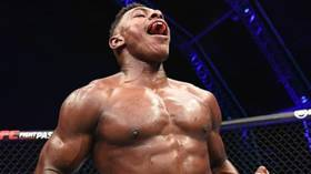 Don't give up your day job: Viral UFC sensation Joaquin Buckley returns to his PHARMACY job just days after stunning KO victory