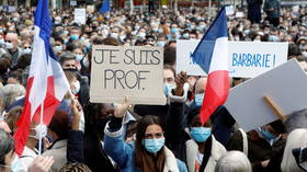 France mourns beheaded teacher as thousands take to Paris' streets (VIDEO)