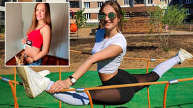 Russian acrobatics star asks fans to become 'godparents' to her baby in exchange for iPhone & MacBook