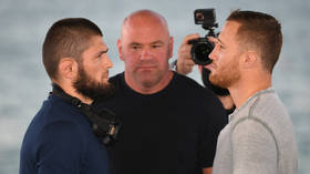 WATCH: Relieved Khabib makes weight after STRIPPING OFF as UFC 254 showdown with Gaethje becomes official