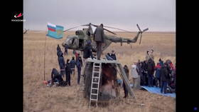 Manned Soyuz MS-16 crew successfully touches down in Kazakhstan after 196 days in space