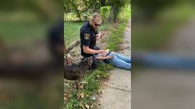 Police review defends cop who used George Floyd-style knee restraint on 14yo AUTISTIC BOY & maced his dog in Topeka, Kansas