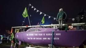Extinction Rebellion activists block entrance to oil refinery in Scotland accused of 'ecocide' (PHOTOS)