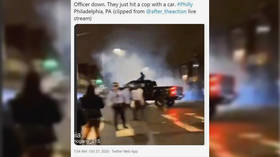 WATCH moment Philly officer is mowed down by speeding truck during riots caught on livestream