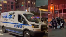Dozens arrested as anti-police protesters march through Brooklyn vandalizing NYPD squad cars & storefronts (VIDEOS)