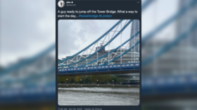 London's Tower Bridge closed briefly by police after person spotted climbing landmark