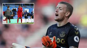 Everton goalie Pickford 'hires bodyguards' to protect family after receiving death threats over Van Dijk injury
