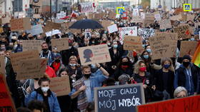 Poland's national women's strike sees mass walkouts in opposition to near-total abortion ban