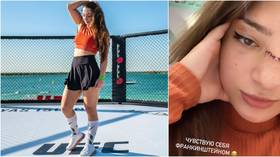 Russian MMA starlet Avsaragova works up sweat as she prepares for Bellator bow – and says Insta DMs are FULL of marriage proposals