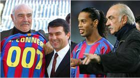Barcelona among those to pay tribute to Sean Connery after Bond icon (and former Man Utd target)  dies aged 90