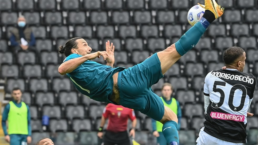 Ibrahimovic's header kick guarantees Milan's victory over Udinese