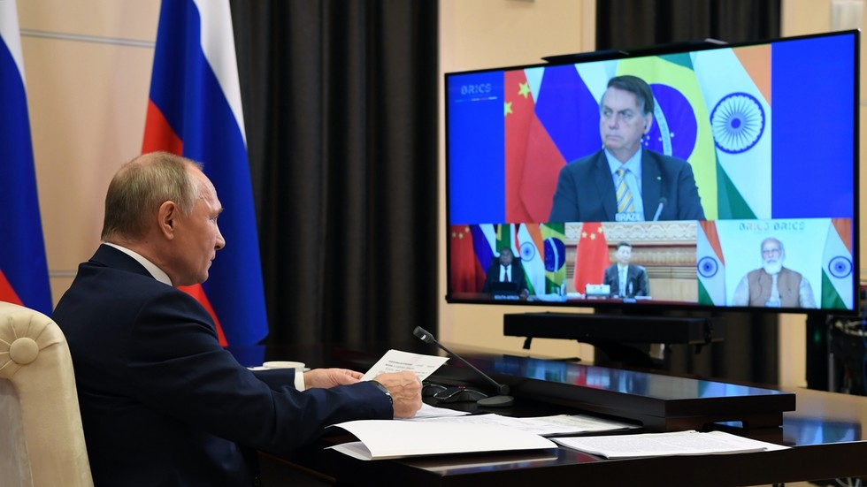 Putin uses BRICS summit to call for lifting of sanctions on poorer countries devastated by coronavirus pandemic