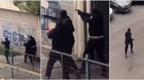 Fierce GUN BATTLE filmed in France's Montpellier as 'two rival gangs' clash in broad daylight (VIDEO)