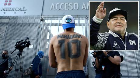 In recovery: Diego Maradona