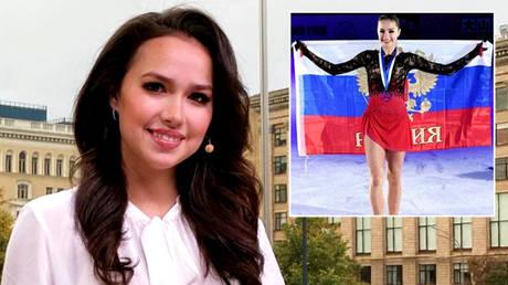 Russian figure skating champion Alina Zagitova is now a TV presenter on Ice Age © Instagram / azagitova