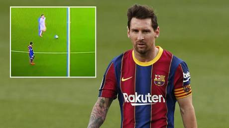 Barcelona skipper Lionel Messi has been criticized for the clip. © Reuters / Twitter @cholometr0