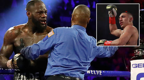 Teofimo Lopez (right) has slammed Deontay Wilder's remarks about his loss to Tyson Fury © Steve Marcus / Reuters | © Andrew Couldridge / Reuters