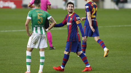 Messi came off the bench to help Barcelona to a crucial win. © Reuters