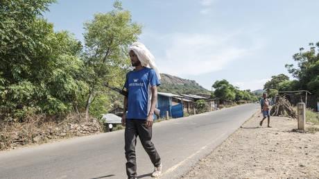 An Ethiopia's Amhara Region militia man pictured on November 7, 2020.