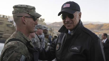 FILE PHOTO: US Vice President Joe Biden  meets with US troops in Afghanistan in 2011. © Reuters / Omar Sobhani