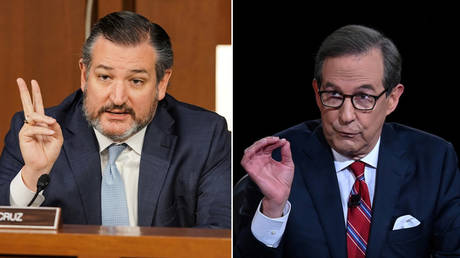 (L) Ted Cruz at a Senate hearing in October; (R) Chris Wallaceis while hosting the Sept. 29 presidential debate. © Reuters