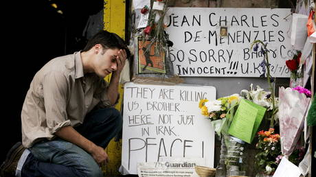 FILE PHOTO: Tributes for compatriot Jean Charles de Menezes outside Stockwell Underground station, London, August 18, 2005