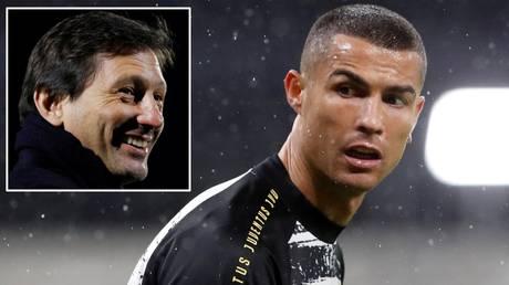 Transfer links: Cristiano Ronaldo and (inset) PSG sporting director Leonardo