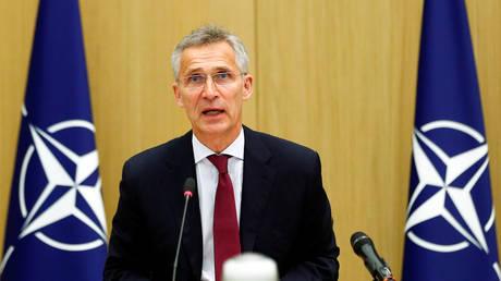 FILE PHOTO: NATO Secretary General Jens Stoltenberg.