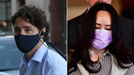 (L) Canadian Prime Minister Justin Trudeau and (R) Huawei chief financial officer Meng Wanzhou. © (L) AFP / Dave Chan; (R) Reuters / Jennifer Gauthier