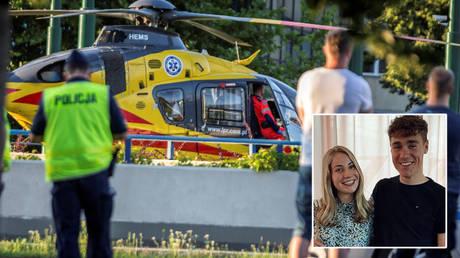 Emergency services attend after Fabio Jakobsen's crash during the Tour of Poland © Grzegorz Celejewski / Agencja Gazeta via Reuters | © Instagram / fabiojakobsen