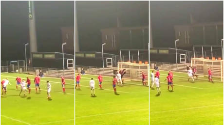 'Just give him the Puskas Award now': Danish defender fires barely-believable goal after overhead kick rebounds off bar (VIDEO)