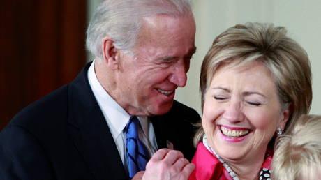 FILE PHOTO: US Vice President Joe Biden and US Secretary of State Hillary Clinton in Washington, DC January 29, 2009.