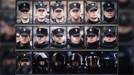Democracia, 18 Portraits, 2014, Installed at Biennale Warszawa 2020, Photo: Bartosz Górka, courtesy of the artists, a/political and Biennale Warszawa