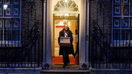 Dominic Cummings, special advisor for Britain's Prime Minister Boris Johnson leaves 10 Downing Street, in London