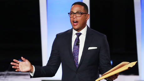 CNN's Don Lemon is shown at a Democrat presidential debate in July 2019.