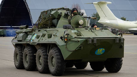Military vehicles of Russian peacekeepers being deployed to Nagorno-Karabakh. © Sputnik / Russia's Defense Ministry