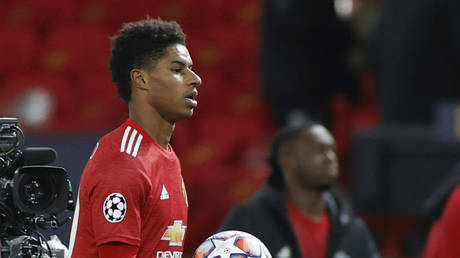Manchester United star Rashford addressed the article in the Mail Online.  © Reuters