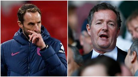 England manager Southgate was criticized by TV host Morgan. © Reuters