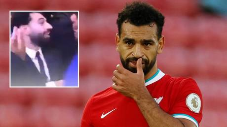 Liverpool star Salah tested positive for Covid-19 after attending his brother's wedding and is now self-isolating. © Reuters / Twitter @EgyptTodayMag