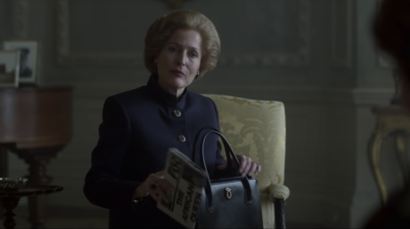 Gillian Anderson as Margaret Thatcher in The Crown (2020) © Netflix