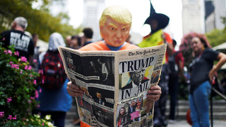 FILE PHOTO: Protest against US President Donald Trump during the UN General Assembly in New York, September 23, 2019.
