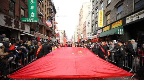 Lunar New Year parade is held at the Chinatown in New York City in February 2020