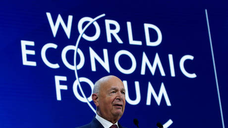 Founder of World Economic Forum Klaus Schwab speaks during a session at the 50th annual meeting in Davos, Switzerland.