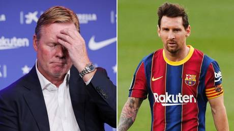 Ronald Koeman is struggling to get Barca back on track, while Lionel Messi's likely summer departure casts a shadow over the club