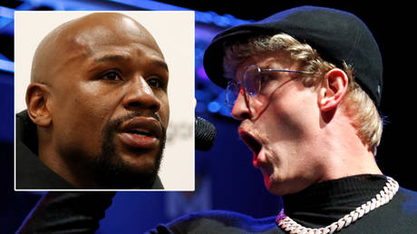 Boxing great Floyd Mayweather (left) has clashed with Logan Paul on Twitter © Issei Kato / Reuters   © Action Images via Reuters / Tom Jacobs