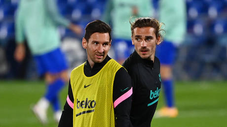 Speculation has surrounded the relationship between Messi and Griezmann. © AFP