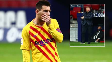 Messi was unable to dig Koeman's team out of hole against Atletico. © Reuters