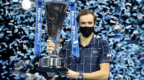 Medvedev beat Thiem to win a maiden ATP Finals title in London. © Reuters