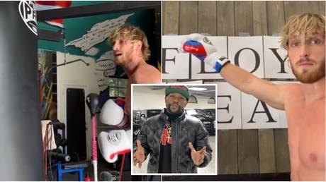 YouTuber Logan Paul poked fun at boxing icon Floyd Mayweather's literacy.  © Instagram @loganpaul @floydmayweather